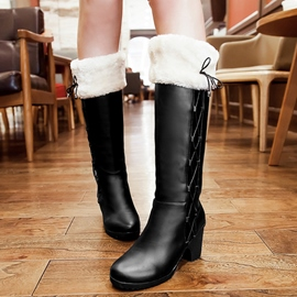 Ericdress PU Short Floss Slip-On Knee High Boots