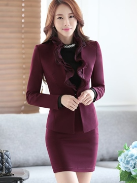 Ericdress Graceful Frill Blazer Formal Suit