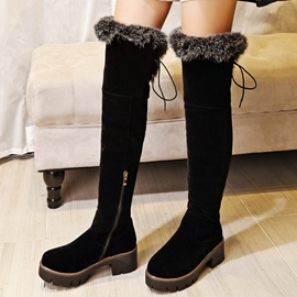 Ericdress Charming Round Toe Short Floss Over Knee High Boots