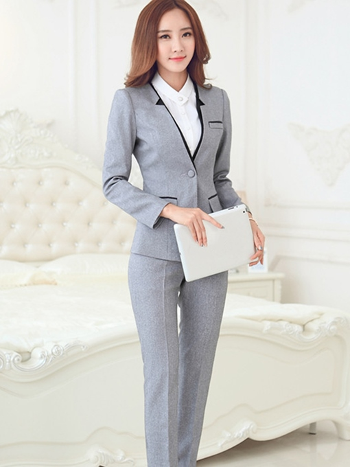 Ericdress Color Block Blazer Two-Piece Formal Suit
