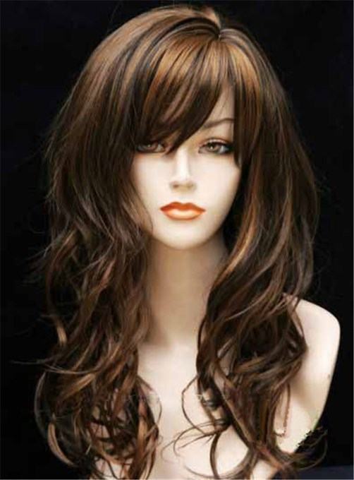 Ericdress New Sexy Fasinating Long Wavy Mixed Brown Wig 22 Inches Take It