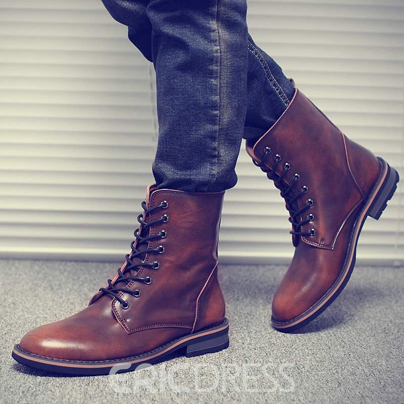 Ericdress Trendy Lace up Martin Boots