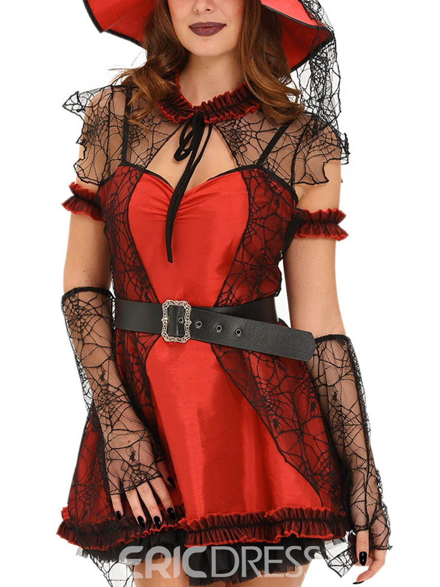 Ericdress Lace Patchowrk Sexy Witch Cosplay Halloween Cosplay