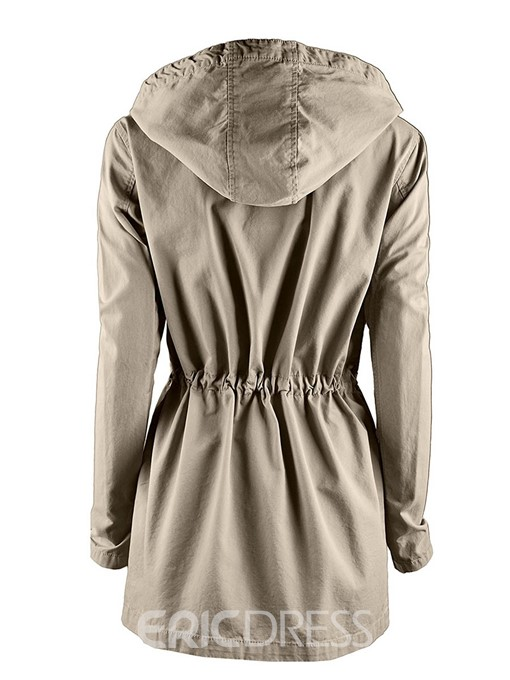 Ericdress Slim Solid Color Pleated Jacket