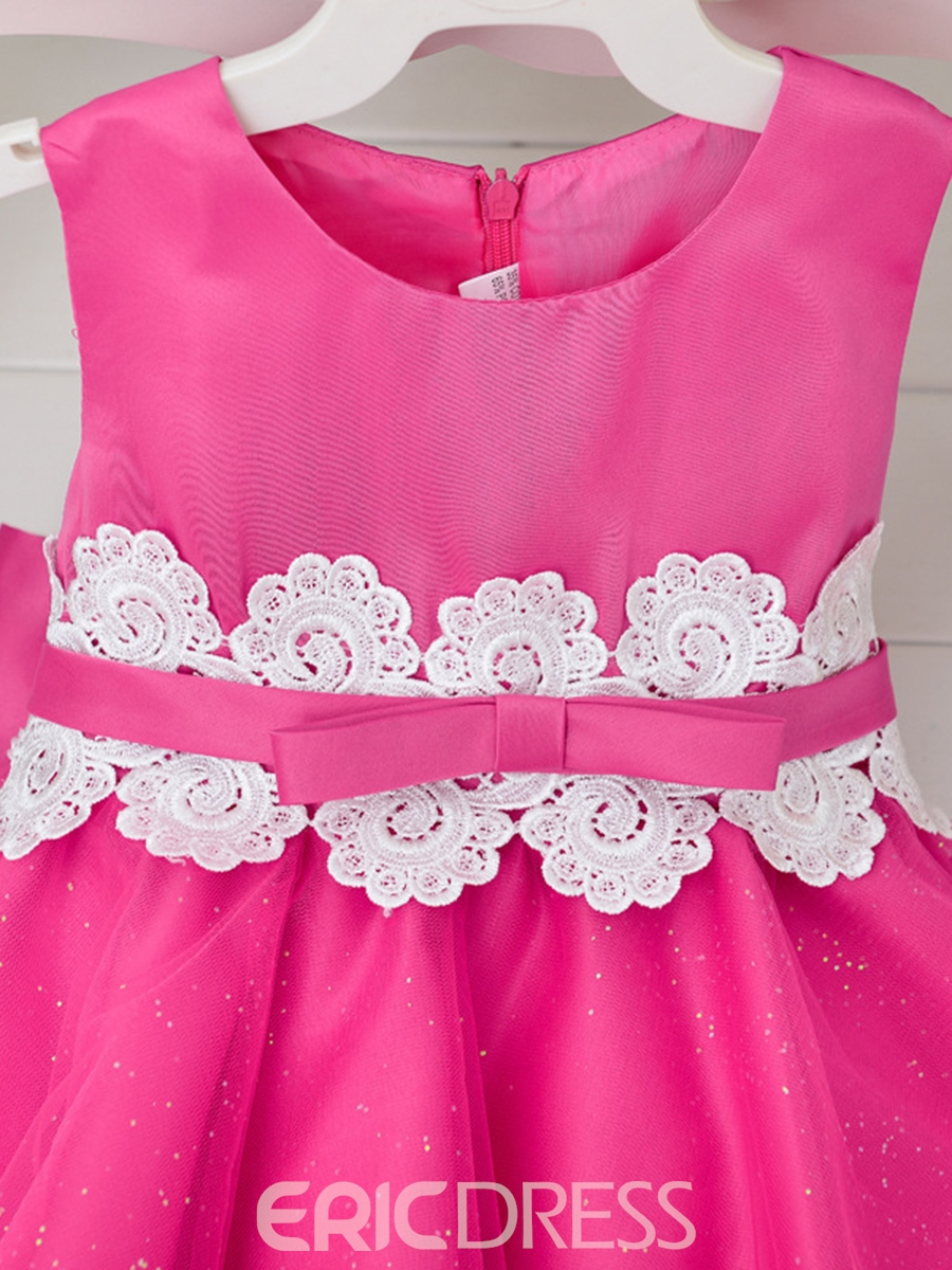 Ericdress Plain Ball Gown Princess Girls Dress