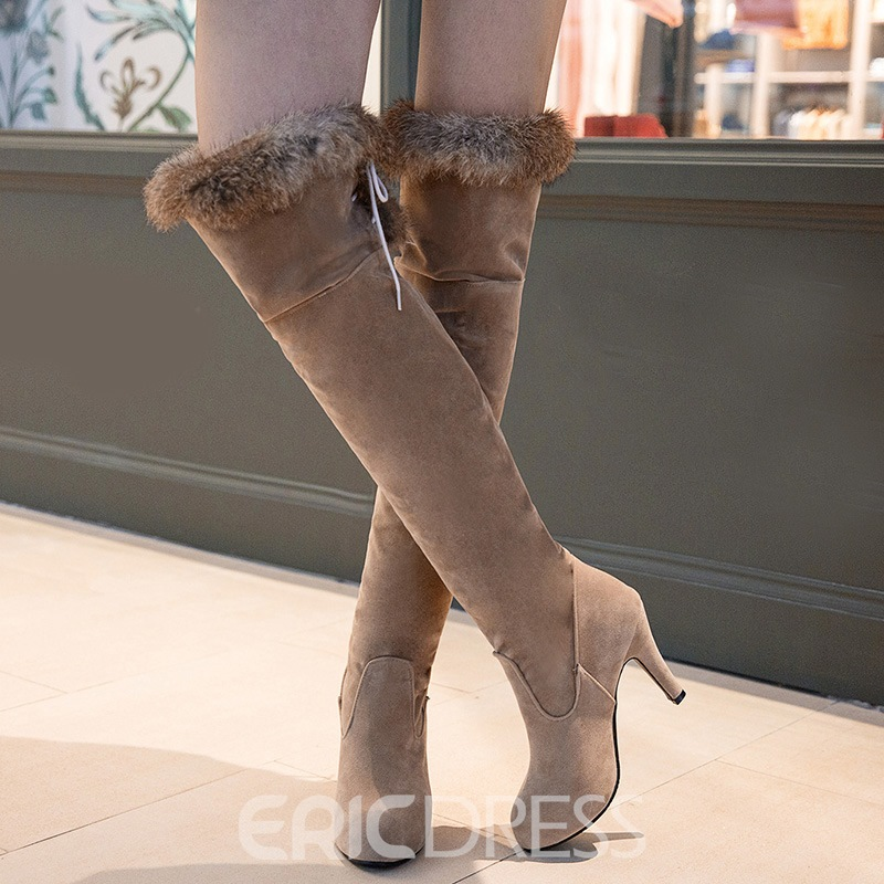 Ericdress Splendid Point Toe Thigh High Boots