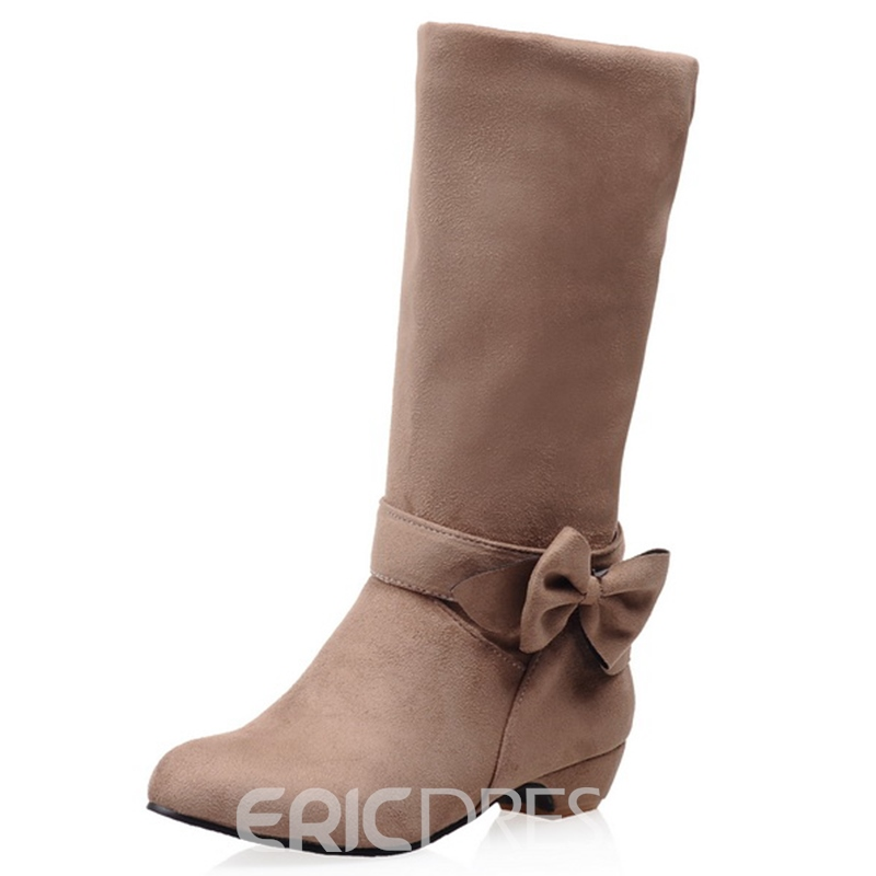 Ericdress Lovely Bowtie Knee High Boots