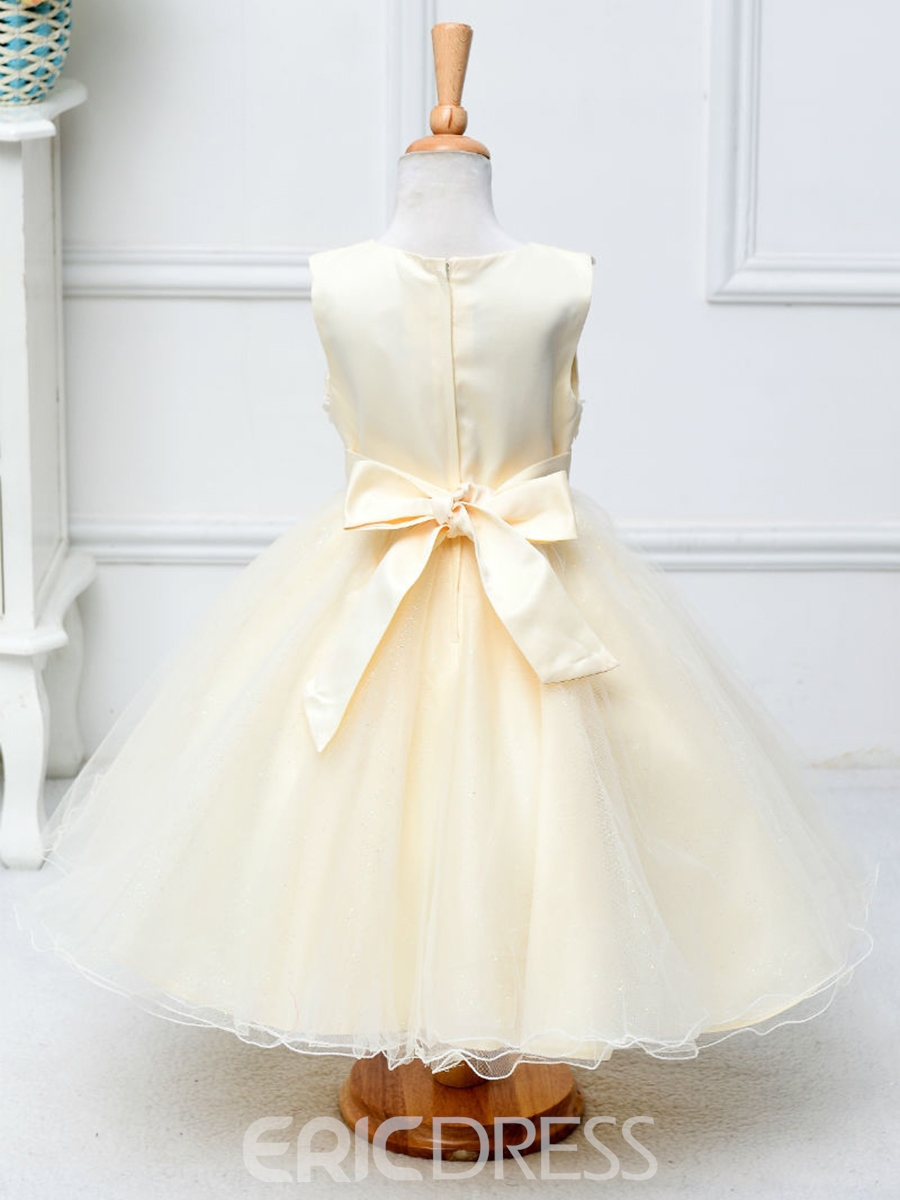 Ericdress Sequins Bow Lace Sleeveless Girl Tutu Dress