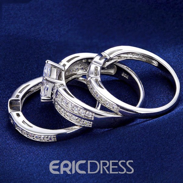 Ericdress Unique Three-Layer Marquise Cut Platinum Plating Bridal Set