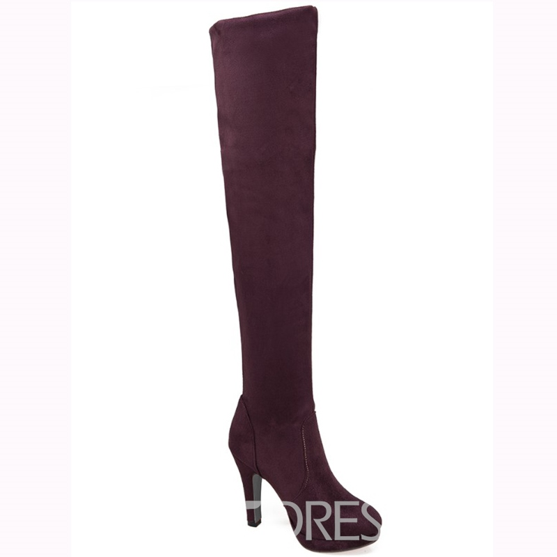 Ericdress Suede Platform Over Kneee High Boots