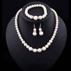 Ericdress Classic Pearl Three Pieces Jewelry Set