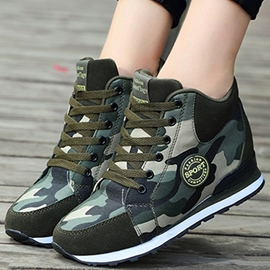 Ericdress Popular Camouflage Lace-Up Women's Sneakers