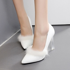 Ericdress Transparent Crystal Point Toe Pumps