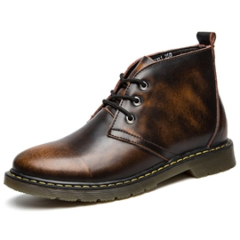 Ericdress Vintage Brush Off Men's Boots