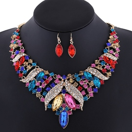 Ericdress Full Rhinestone Alloy Jewelry Set
