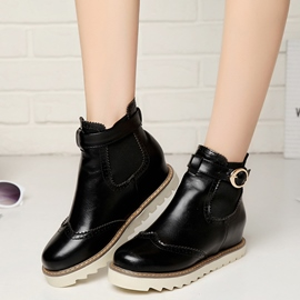 Ericdress Chic PU Ankle-Boots