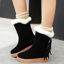 Ericdress Pretty Suede Snow Boots