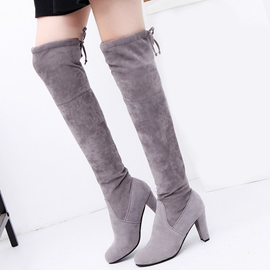 Ericdress All Match Point Toe Thigh High Boots