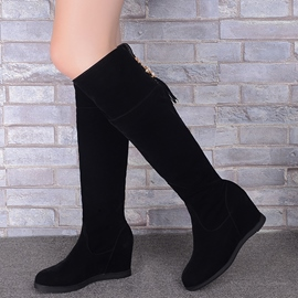 Ericdress Pretty Suede Back Tassels Knee High Boots