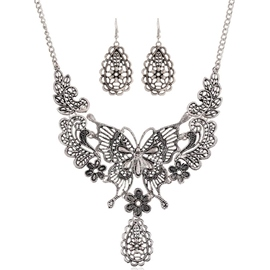 Ericdress Alloy Hollow-Out Butterfly Design Jewelry Set