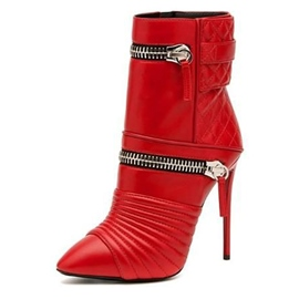 Ericdress Zip Decorated Point Toe High Heel Boots
