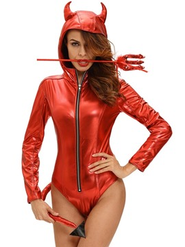 Ericdress Red Horns Devil Cosplay Costume