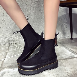 Ericdress Cool Patchwork Round Toe Ankle Boots