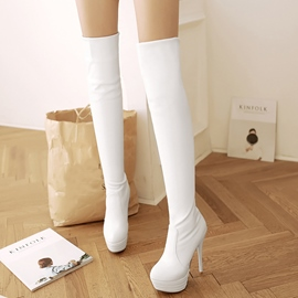 Ericdress PU Platform Over The Knee Boots