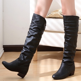 Ericdress PU Slip-On Knee High Boots
