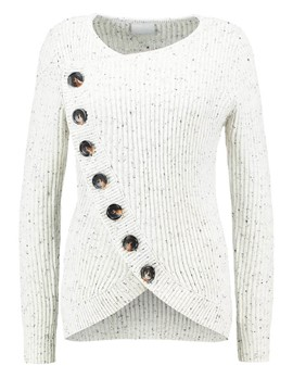 Ericdress Oblique Button Fashion Knitwear