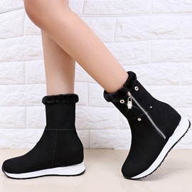 Ericdress Charming Suede Side Zip Ankle Boots
