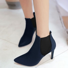 Ericdress Modern Patchwork Point Toe High Heel Boots
