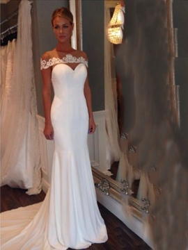 Ericdress Charming Illusion Neckline Mermaid Wedding Dress