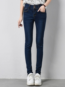 Ericdress Worn Pocket Skinny Jeans