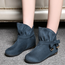 Ericdress Charming Purfle Round Toe Ankle Boots