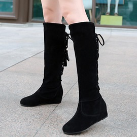Ericdress Pretty Back Tassels Thigh High Boots