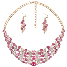 Ericdress Exquisite All-Match Diamante Jewelry Set