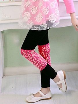 Ericdress Color Block broderie filles Leggings