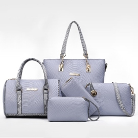 Ericdress Color Block Croco-Embossed Handbags(6 Bags)