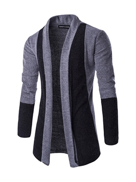 Ericdress Color Block Vogue Cardigan Men's Knitwear
