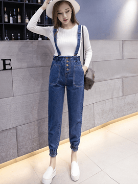 Ericdress Slim Suspenders Knickerbockers Jumpsuits Pants