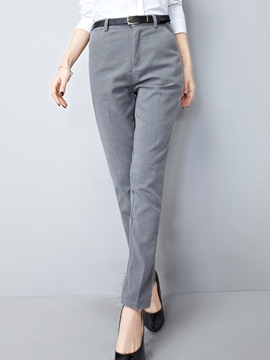 Ericdress Plain Thick Full Length Harem Pants