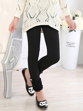 Ericdress bande dentelle Diamond filles Leggings