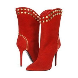 Ericdress Rivets Decorated Point Toe High Heel Boots