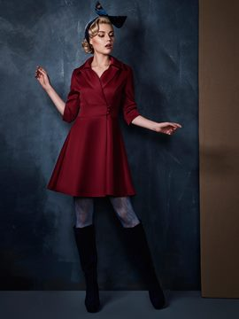 Ericdress Classy Three Quarter Sleeve A Line Dress