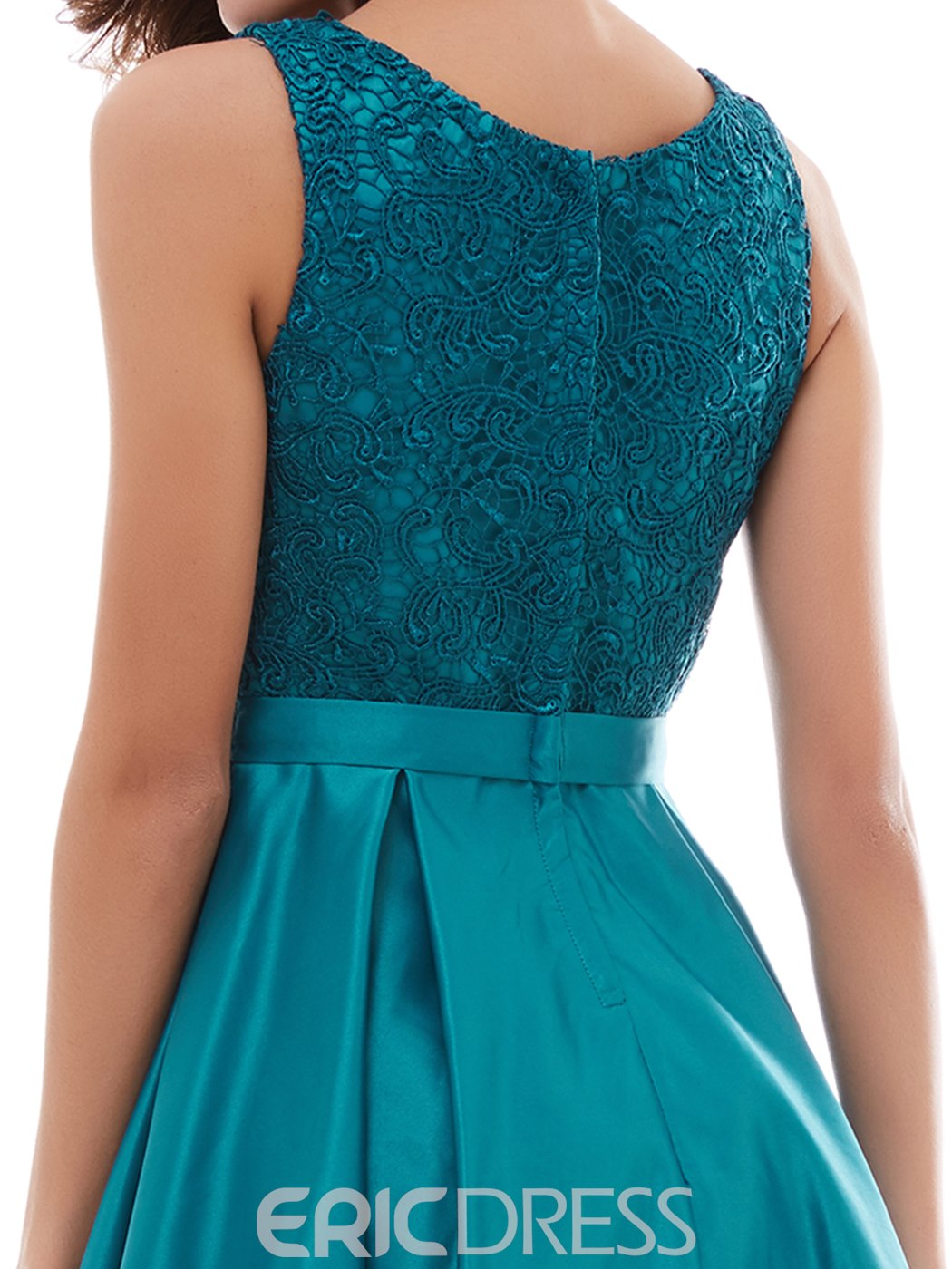 Ericdress Short A-Line Lace Zipper Back Knee-Length Short Party Dress
