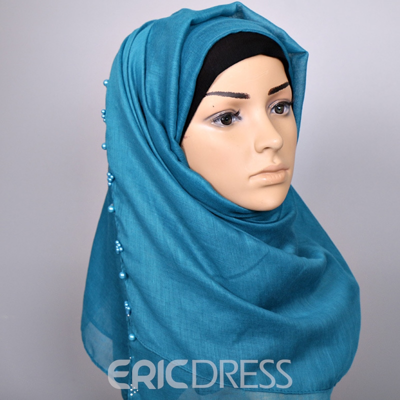 Ericdress Pearls Decorated Pure Color Women's Scarf