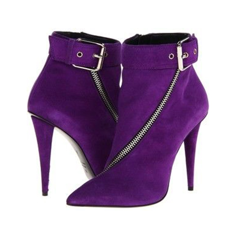 Ericdress Amazing Purple Point Toe High Heel Boots
