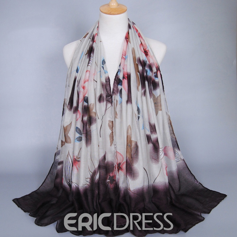 Ericdress Ink Painting Printed Voile Women's Scarf