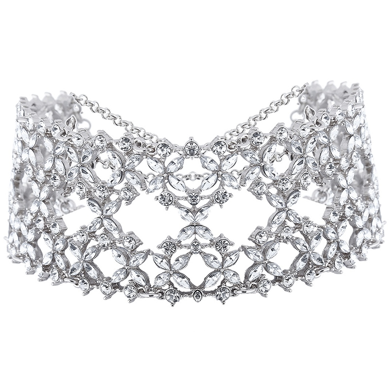 Ericdress Alloy Full Rhinestone Choker Necklace